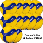 Pallone Volley Mikasa V300W Coupon 2020 - Conf. 12 palloni
