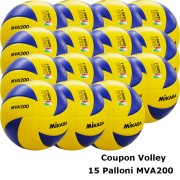 Pallone Volley Mikasa MVA200 Coupon 2018 - Conf. 15 palloni