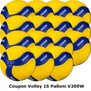 Pallone Volley Mikasa V200W Coupon 2019 - Conf. 15 palloni