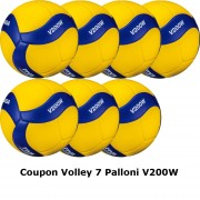 Pallone Volley Mikasa V200W Coupon 2020 - Conf. 7 palloni