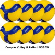 Pallone Volley Mikasa V320W Coupon 2020 - Conf. 8 palloni