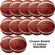 Pallone Basket Molten Femminile B6G3800 Coupon 2020 - Conf. 12 palloni + 1 Spray + 1 Gel + 5 Mask