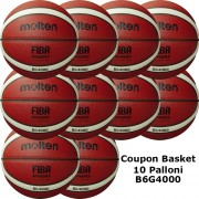 Pallone Basket Molten Femminile B6G4000 Coupon 2020 - Conf. 10 palloni + 1 Spray + 1 Gel + 10 Mask