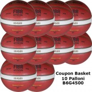 Pallone Basket Molten Femminile B6G4500 Coupon 2020 - Conf. 10 palloni + 2 Spray + 1 Gel + 10 Mask