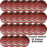 Pallone Basket Molten Maschile B7G1600 Coupon 2020 - Conf. 25 palloni + 2 Spray + 5 Mask