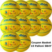 Pallone Mini Basket Molten SB4Y Coupon 2020 - Conf. 10 palloni + 1 Spray