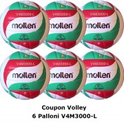 Pallone Volley Molten V4M3000-L Coupon 2017 - Conf. 6 palloni