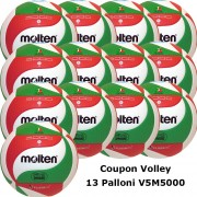 Pallone Volley Molten V5M5000 Coupon 2020 - Conf. 13 palloni + 2 Spray + 1 Gel + 13 Mask
