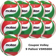 Pallone Volley Molten V5M5000 Coupon 2020 - Conf. 9 palloni + 1 Spray + 1 Gel + 9 Mask