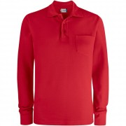 Polo Clique BASIC POLO LS POCKET Manica Lunga
