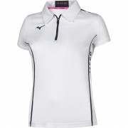 Polo Tennis Mizuno HEX RECT ZIP POLO WOMAN Manica Corta