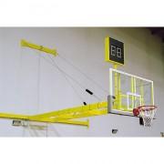 Impianto Basket MOBILE A PARETE COPPIA