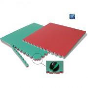 Tatami Judo Bicolore Rosso/Verde In EVA