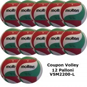 Pallone Volley Molten V5M2200-L240 Coupon 2020 - Conf. 12 palloni