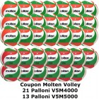 Pallone Volley Molten 21-V5M4000 + 17-V5M5000 Conf. 38 palloni + 1 Spray + 1 Gel + 12 Mask
