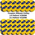 Pallone Volley Mikasa 14-V300W + 21-V320W Conf. 35 palloni