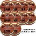 Pallone Basket Molten Femminile BGF6X Coupon 2018 - Conf. 10 palloni