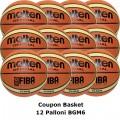 Pallone Basket Molten Femminile BGM6X Coupon 2018 - Conf. 12 palloni