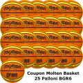 Pallone Basket Molten Femminile BGR6-OI Coupon 2019 - Conf. 25 palloni