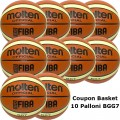 Pallone Basket Molten Maschile BGG7X Coupon 2018 - Conf. 10 palloni