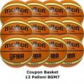 Pallone Basket Molten Maschile BGM7X Coupon 2019 - Conf. 12 palloni