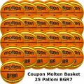 Pallone Basket Molten Maschile BGR7-OI Coupon 2019 - Conf. 25 palloni