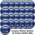 Pallone Mini Basket Molten BGR5-WBL Coupon 2019 - Conf. 25 palloni