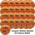 Pallone Mini Basket Molten BGR5-OI Coupon 2019 - Conf. 25 palloni