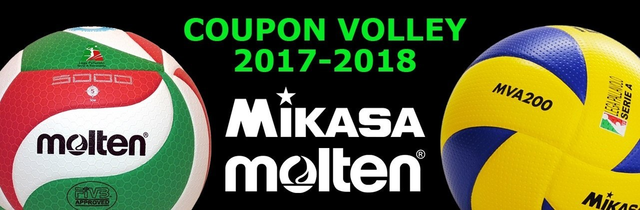 Nuovi Coupon Volley Mikasa Molten 2017-2018