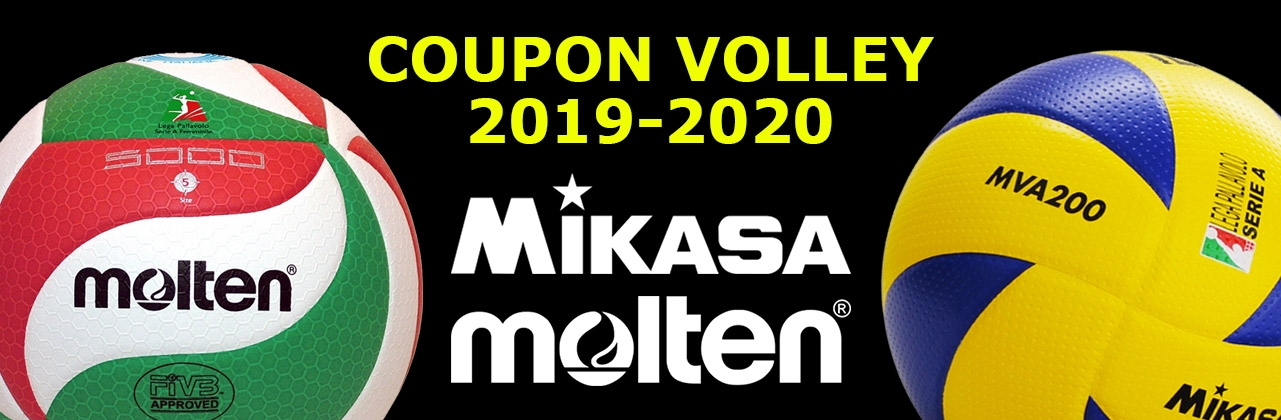 Nuovi Coupon Volley Mikasa Molten 2019-2020