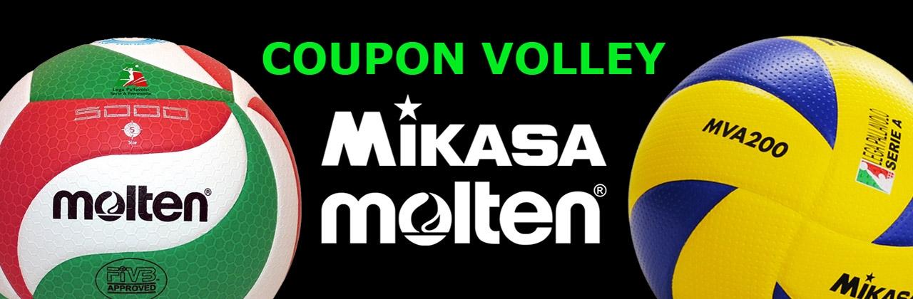 Nuovi Coupon Volley Mikasa Molten 2021-2022