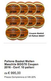 Offerta BGG7X Molten Basket 2017