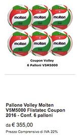 Offerta 6 V5M5000 Molten Volley 2017